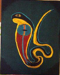 Serie Egypt: Uräusschlange Sie wurde auch Erdensohn, oder Herr des Lebens genannt oder UTO sie galt als gütige, freundliche Göttin