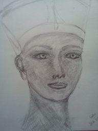 Serie Egypt: Skizze Nefertiti (Nofretete)