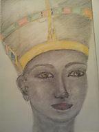 Serie Egypt: Nefertiti (Nofretete) colored